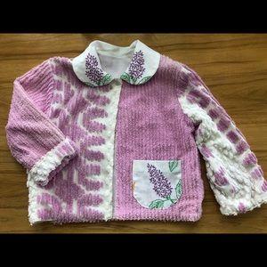 Handmade chenille, embroidered girls jacket